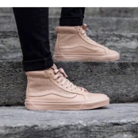 8beabb605a New W 9.5 Vans Sk8-Hi Slim Cutout Leather Sneakers
